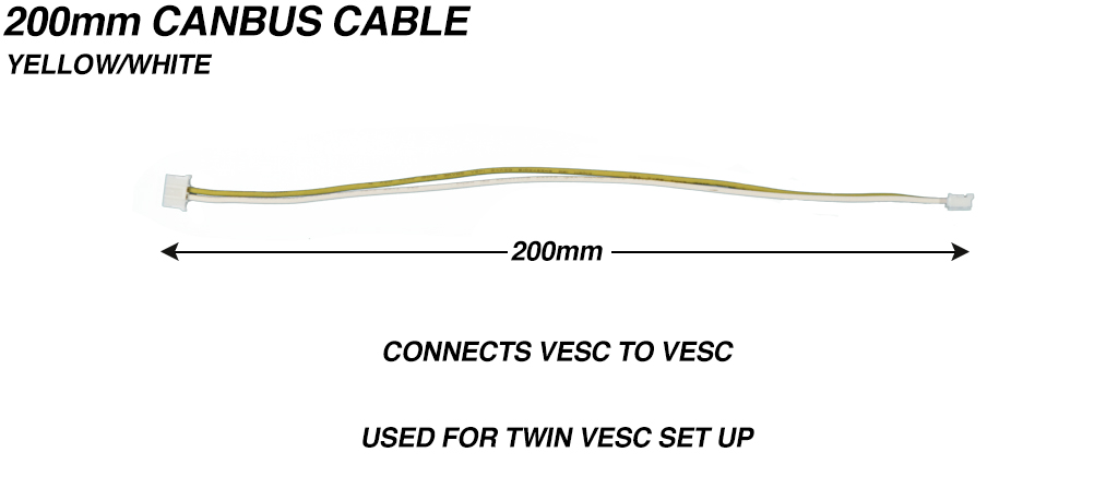 CANBUS Cable 24 AWG  Silicon Yellow/White - 200mm