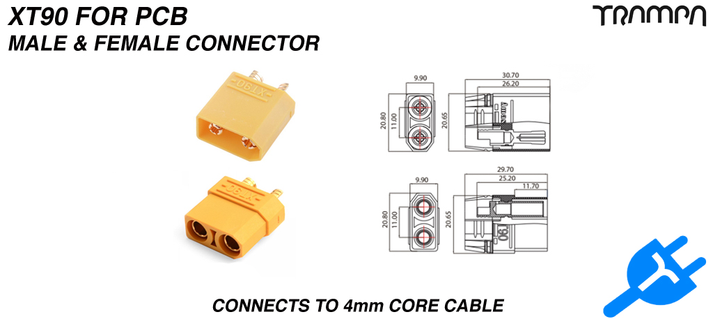 XT90 Connectors Male & Female