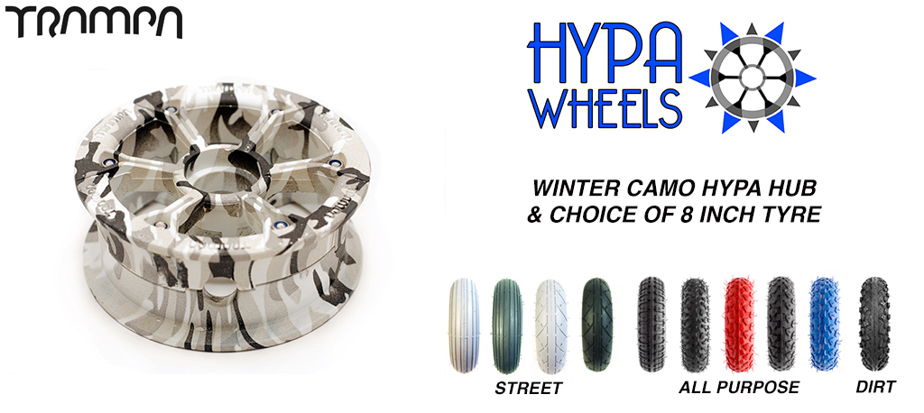Winter Camo Hypa hub & Custom 8 inch Tyre