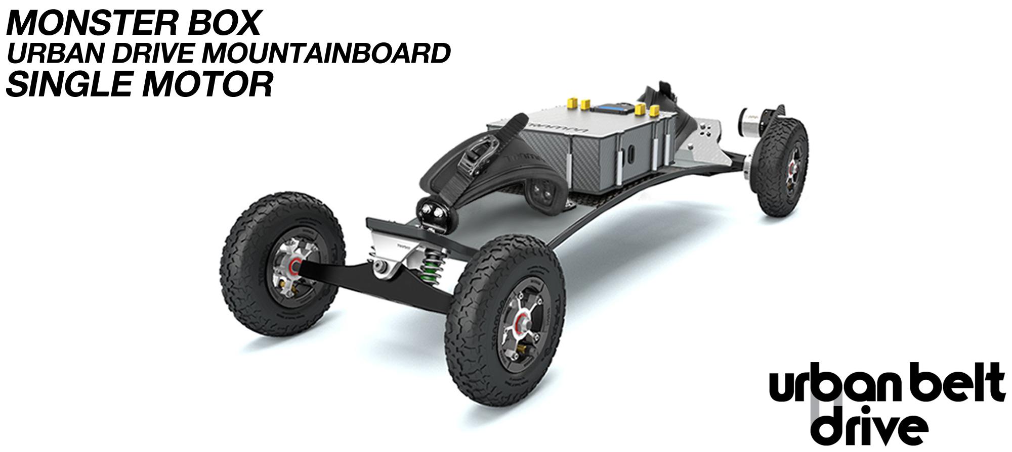 URBAN Electric Mountainboard - Single Motor Urban Motor Mounts, ATB Trucks, 8 inch Wheels, MONSTER Box inc VESC