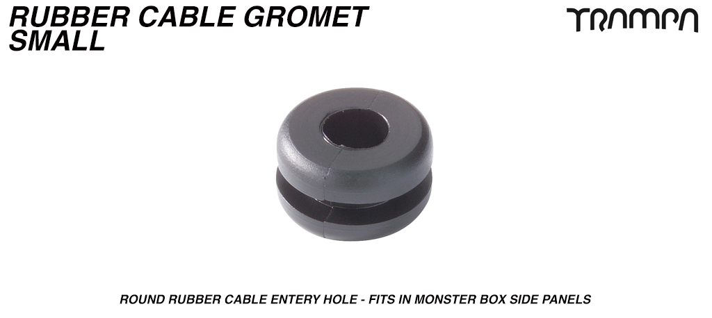 5mm Cable Entry OPEN Grommet - Allows TRAMPA Silicone Cables to pass through sealed holes in Monster Box side panels for water proof assistance & Neat Cabling