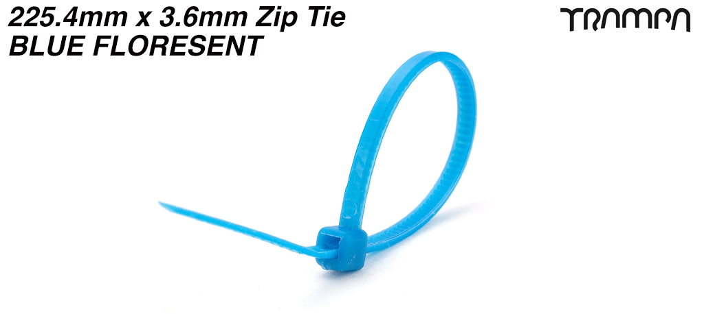 225.4mm x 3.6mm Zip Tie - BLUE FLORESENT
