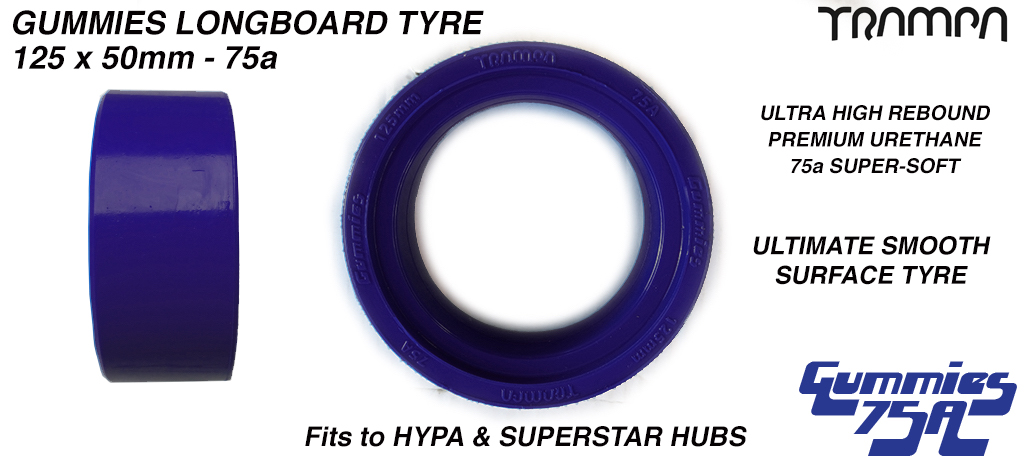 BLUE GUMMIES tyres Ultimate Grip - 75a