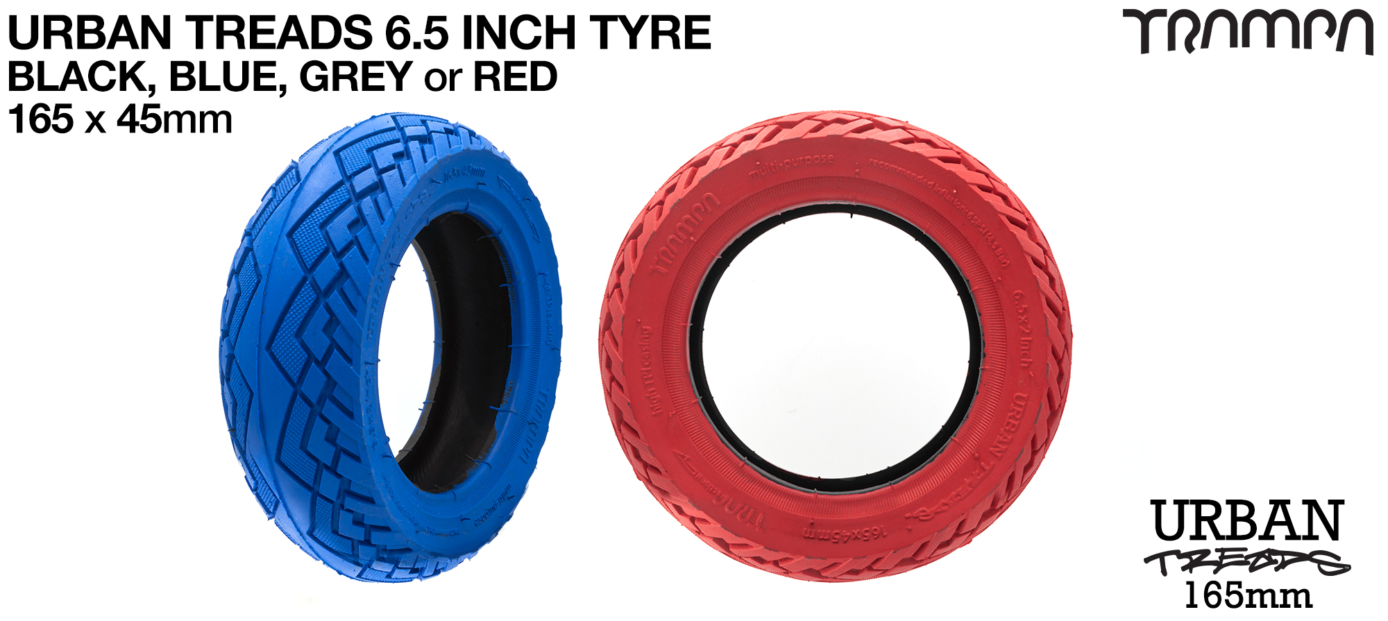 6.5 Inch URBAN Treads High Pressure High speed Tyres
