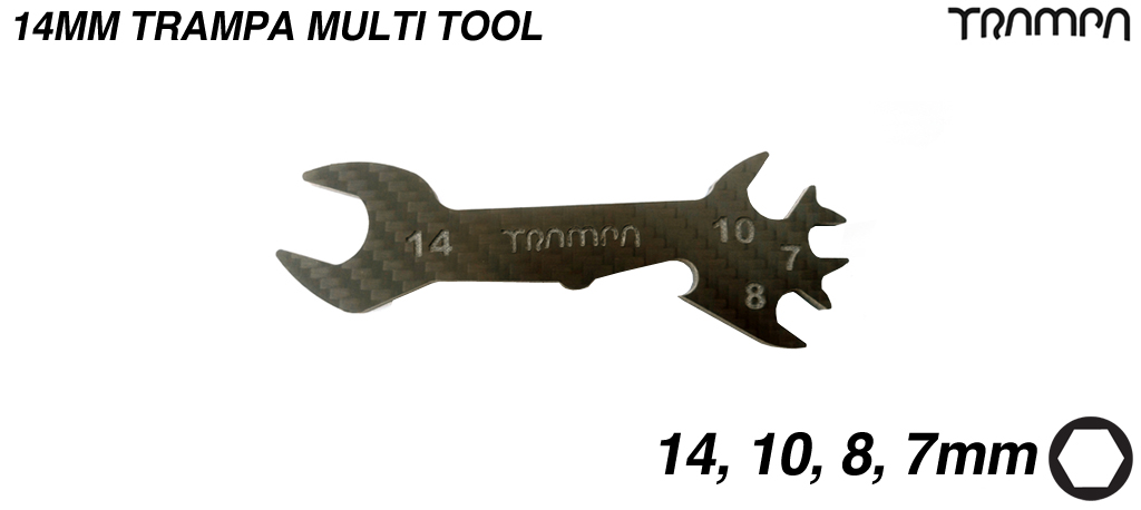 14mm  Multi tool for TRAMPA 9.525mm Axle Decks