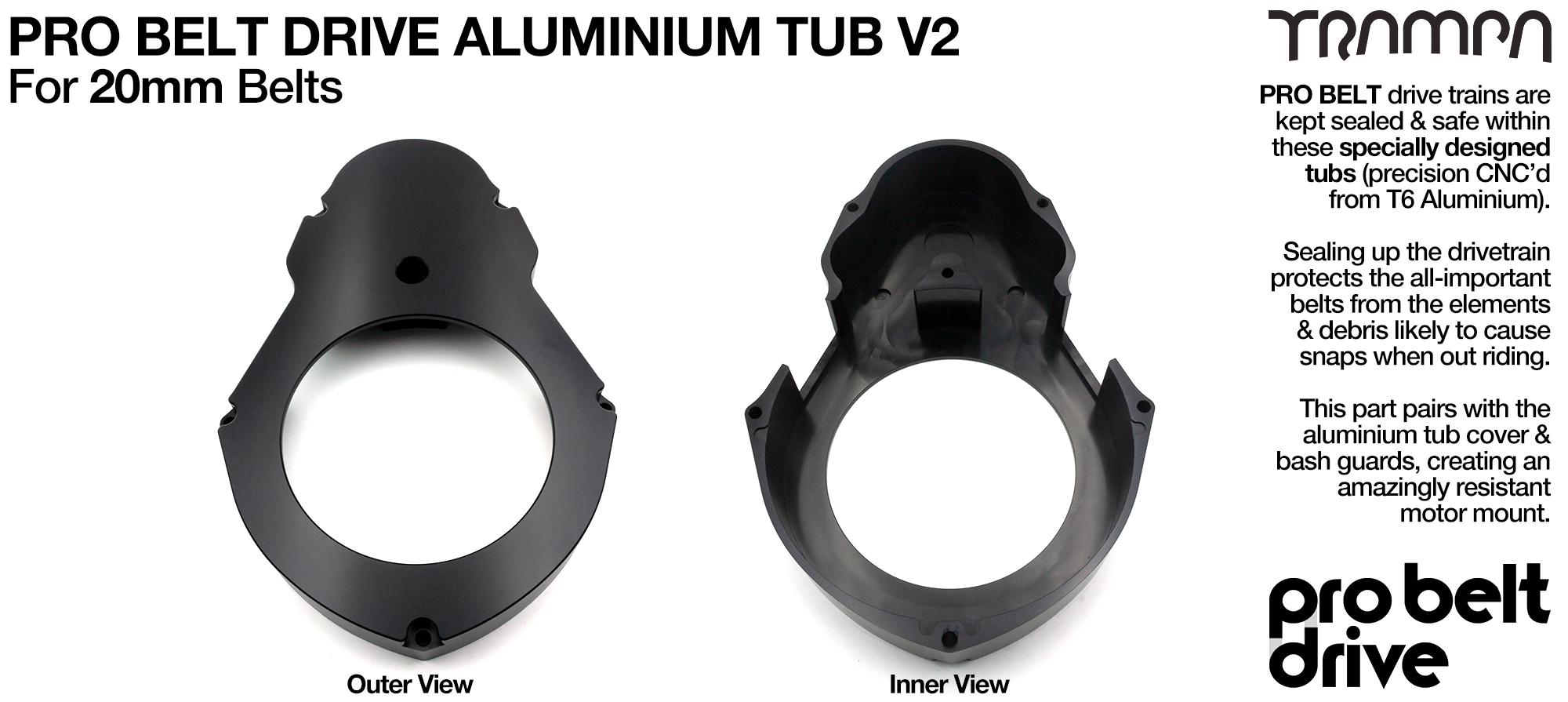 PRO Belt Motor Mount Aluminum TUB - V3