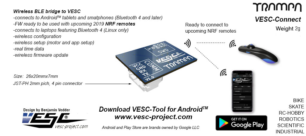 VESC Connect NRF Wireless Dongle
