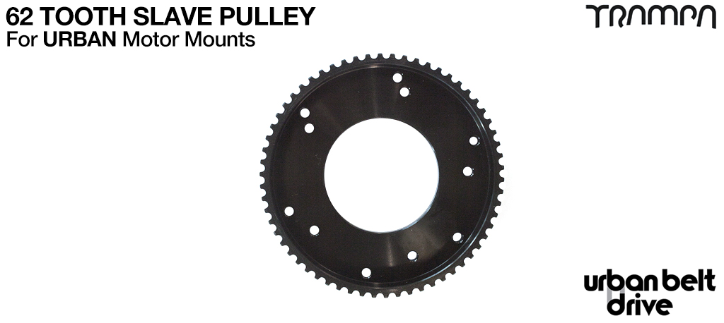 62 Tooth Slave Pulley for URBAN Treads tyres - Perfect gearing for the little tyres :-)