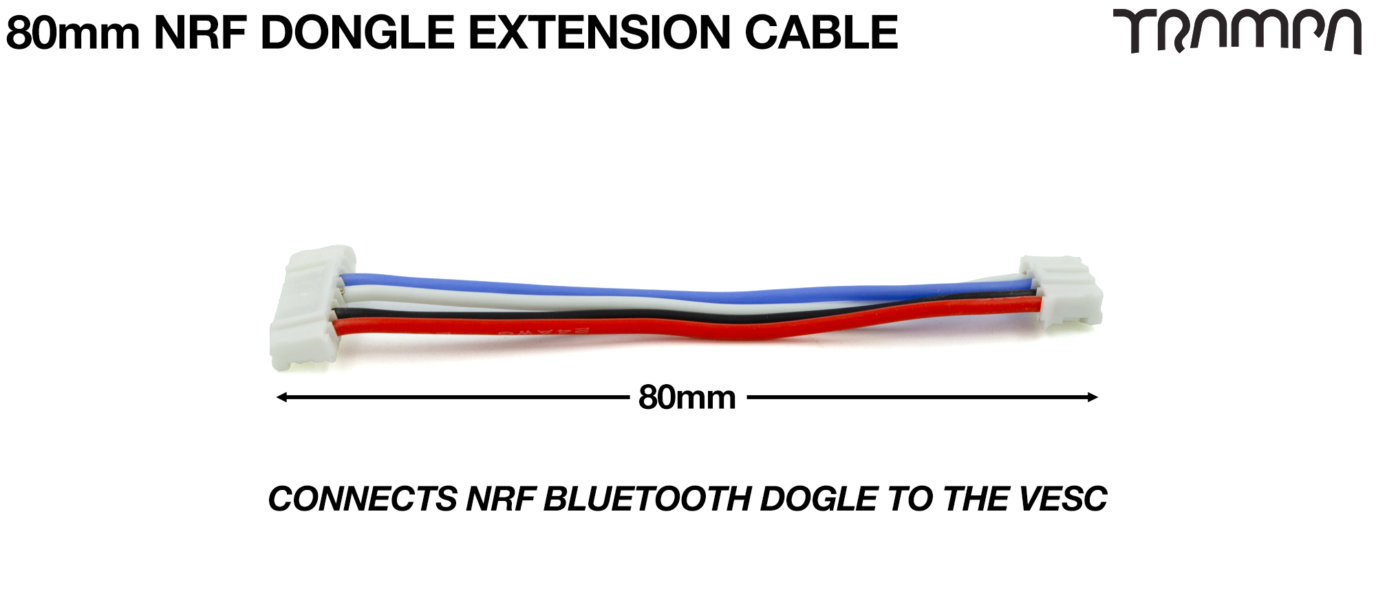 80mm of VESC Connect Dongle Cable per Dongle
