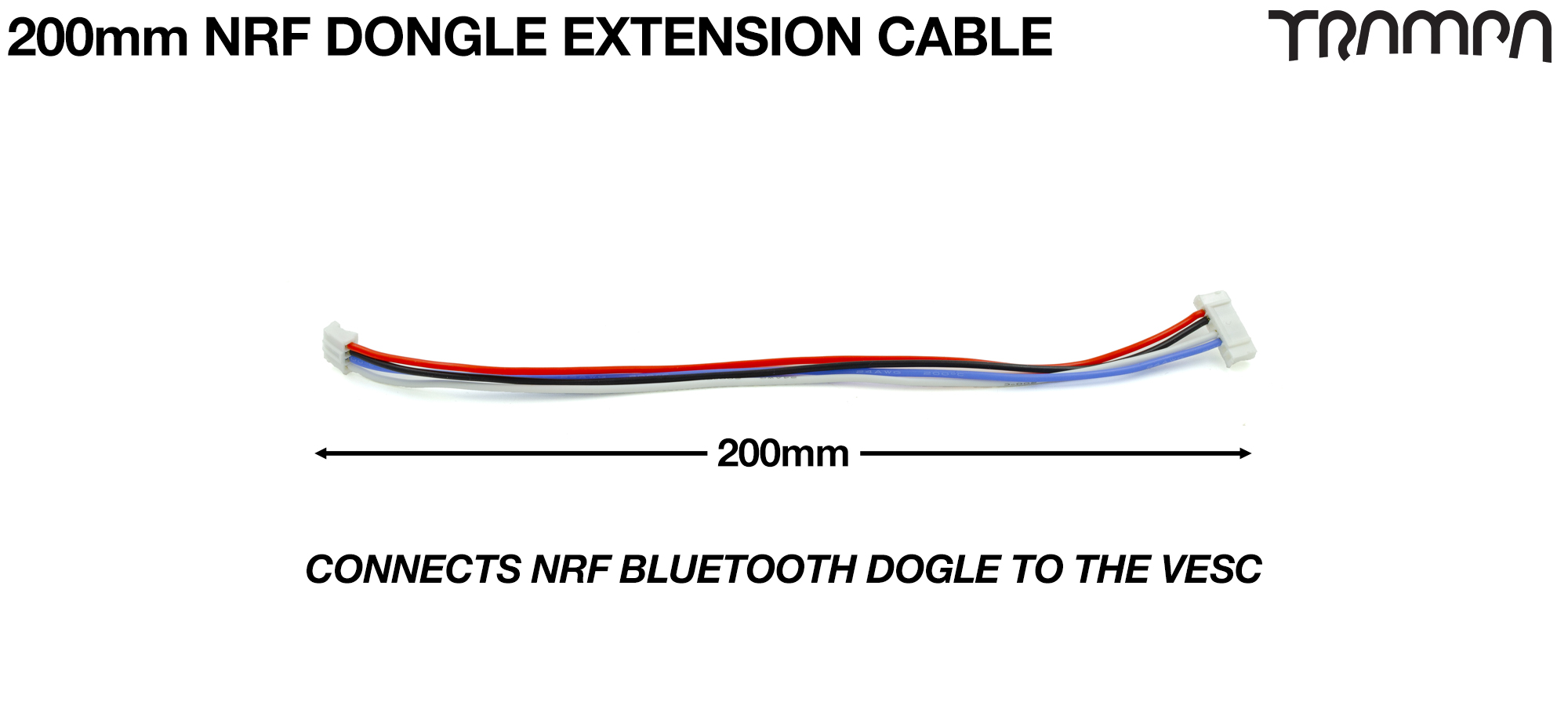 200mm of VESC Connect Dongle Cable per Dongle