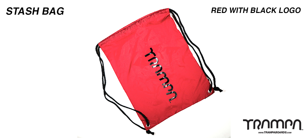 Stash Bag - Red with Black Logo