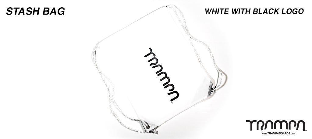 Stash Bag - WHITE with Black Logo