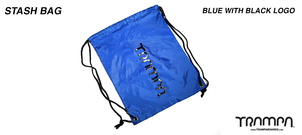 Stash Bag - BLUE with Black Logo
