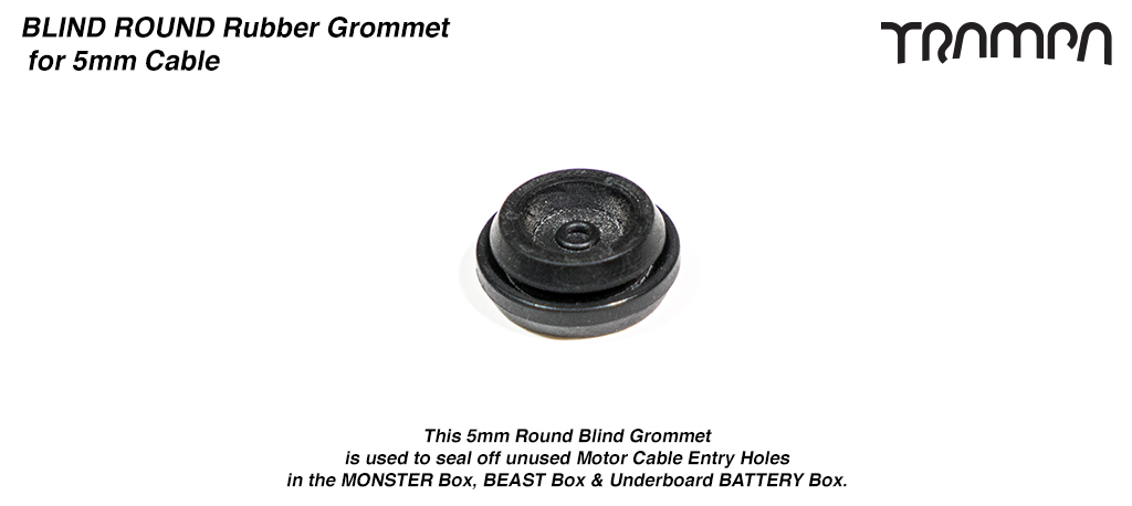 5mm ROUND BLIND Rubber Grommet for 5mm TRAMPA Silicone Cable