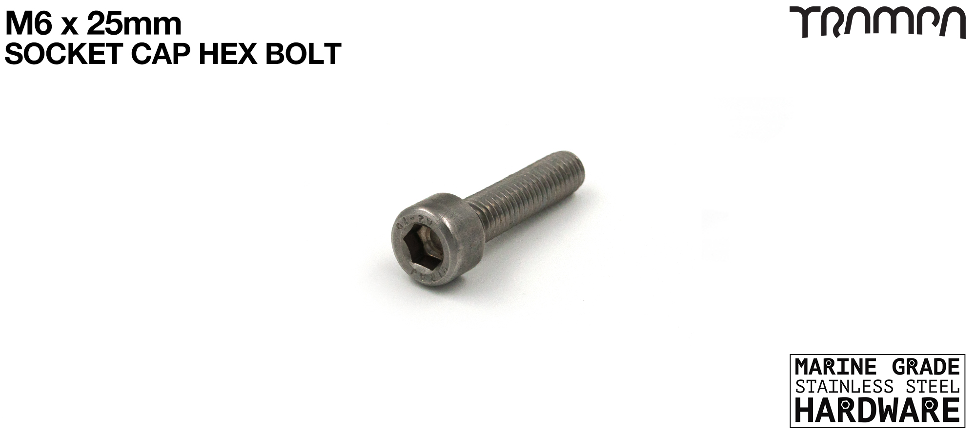 M6 x 25mm Socket Capped Bolt for primo hub - Marine Grade Stainless steel