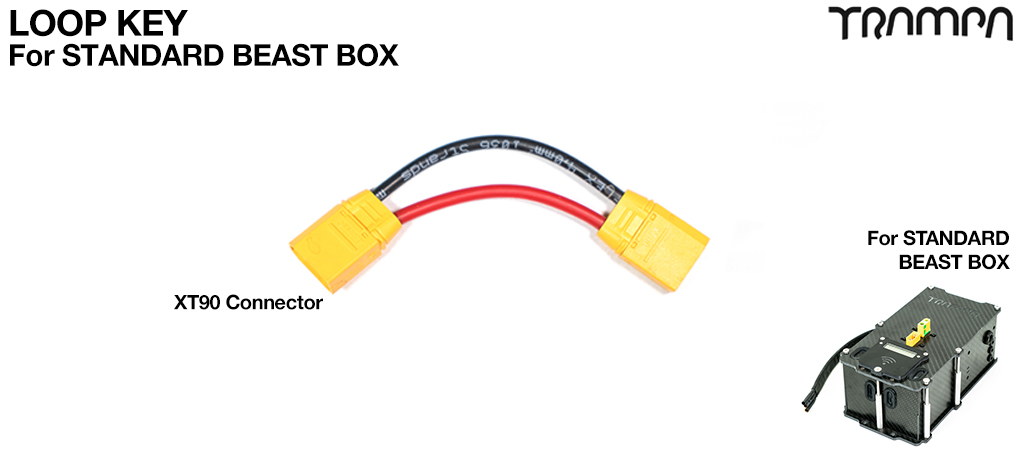 Beast Box Loop Key - Fixes into the lid of the Beast Box to make the power connection from 12s Batteries to VESC