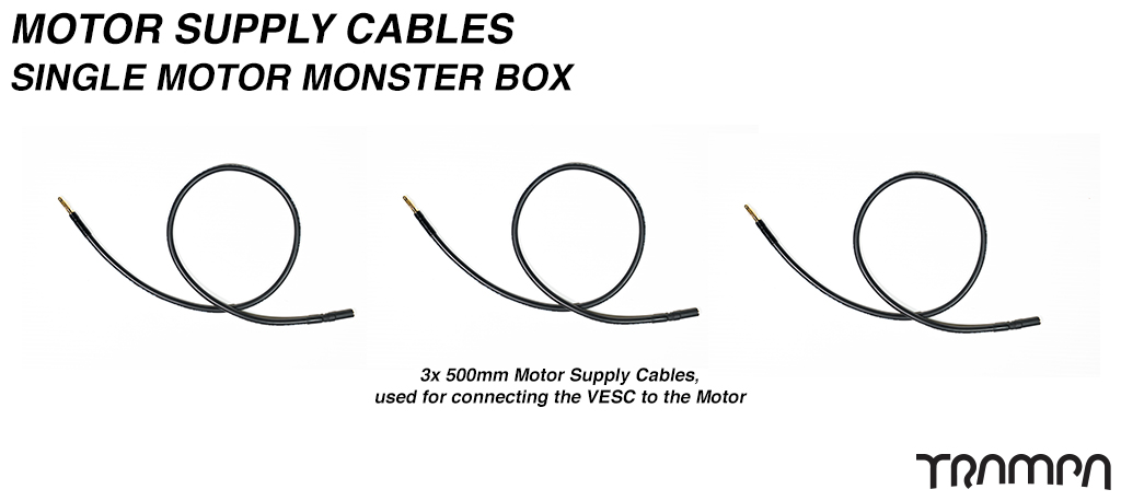 Monster Box VESC to MOTOR Cables - Single Motor
