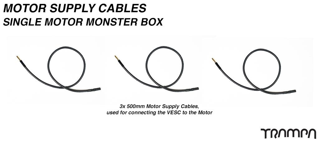 Monster Box VESC to MOTOR Cables - Single Motor