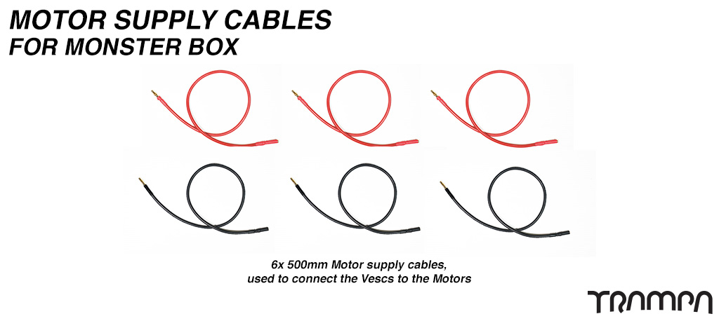 Monster Box VESC to MOTOR Cables - TWIN Motor