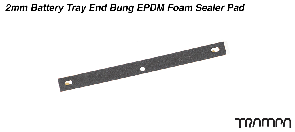 2mm Battery Tray End Bung EPDM Foam Sealer Pad