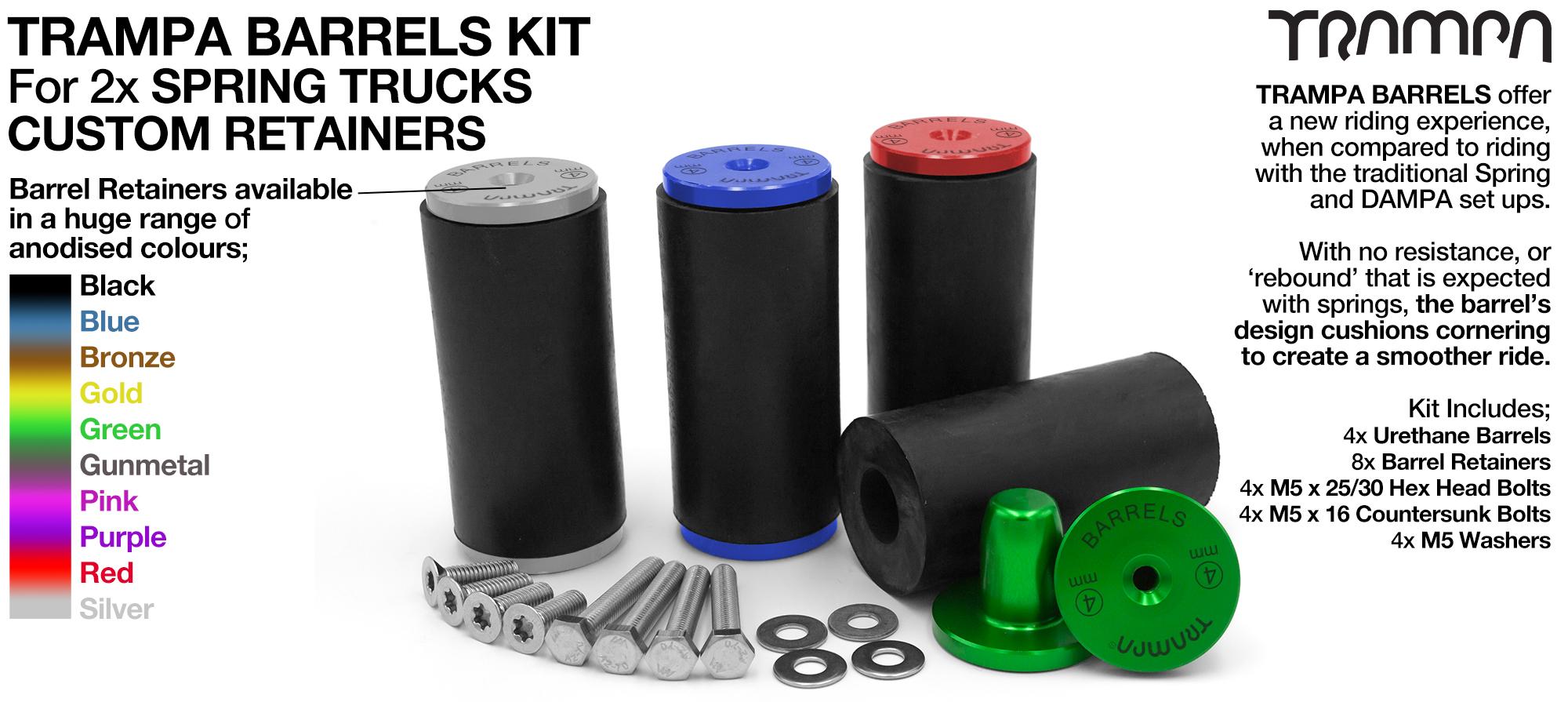 TRAMPA BARRELS Complete DECK Kit