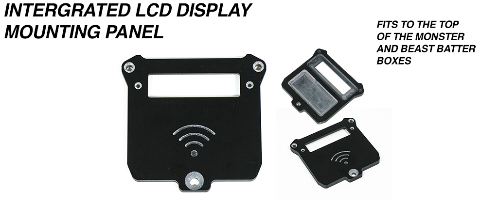 Integrated LCD Battery indicator Display & internal NRF Housing mounting Panel