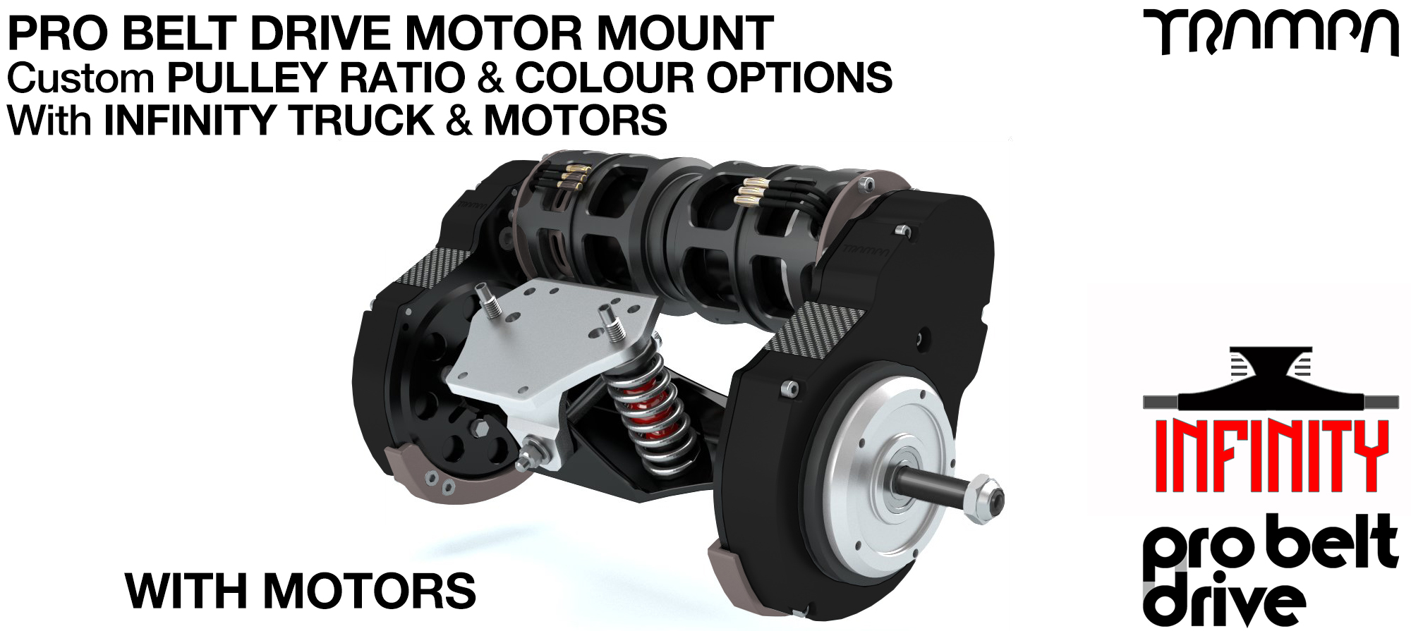 Mountainboard TPRO Belt Drive Motor Mounts, Motors & Precision INFINITY Truck