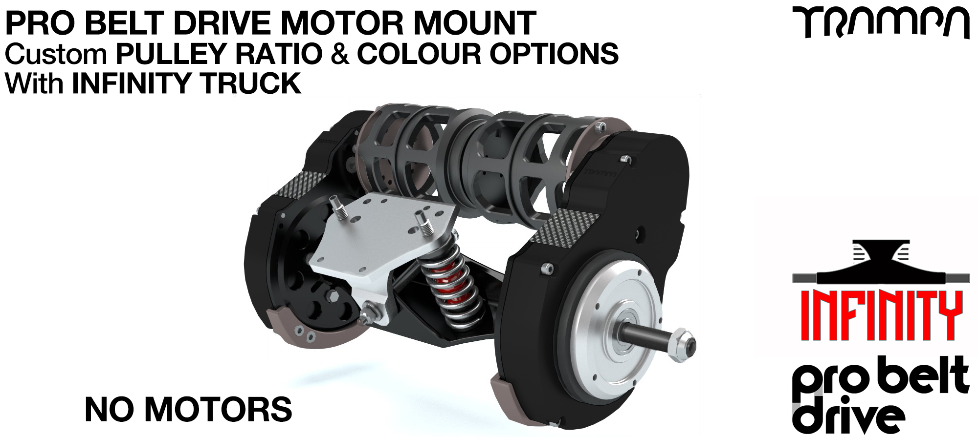 Mountainboard PRO Belt Drive TWIN Motor Mounts, Motors & Precision INFINITY TRUCK