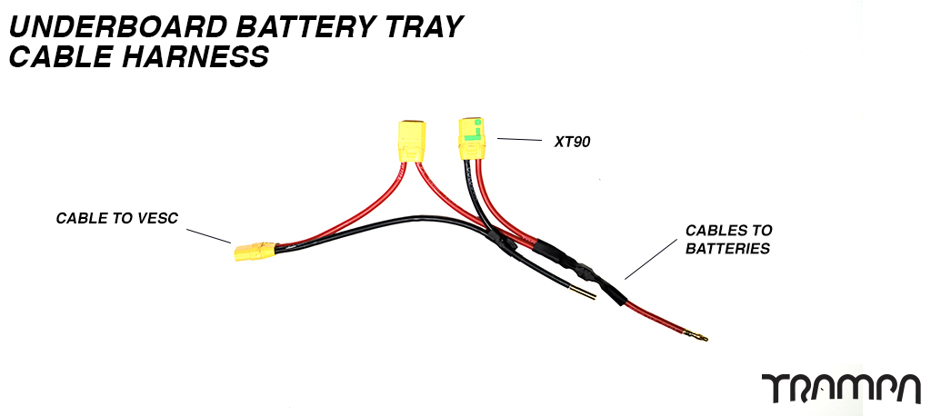 Underboard Battery Tray Cable Harness for 6x 2s HRB cells used in the ORRSOM Longboard