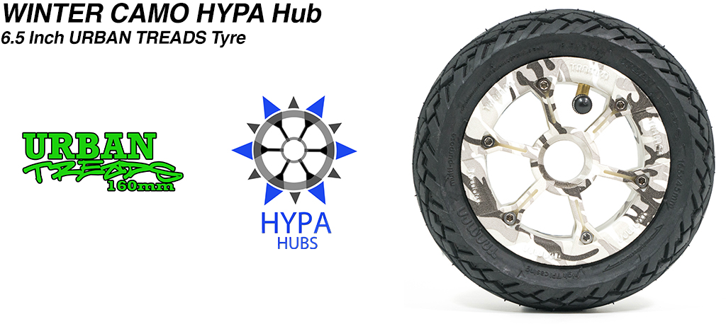 Winter Camo HYPA Hub with Low Profile 6.5 Inch URBAN Treads Tyres