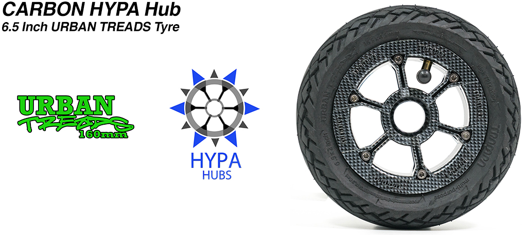 Carbon Fibre HYPA Hub with Low Profile 6.5 Inch URBAN Treads Tyres