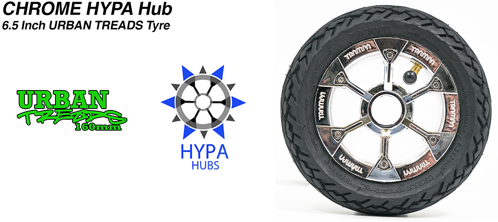 Pimp Chrome HYPA Hub with Low Profile 6.5 Inch URBAN Treads Tyres