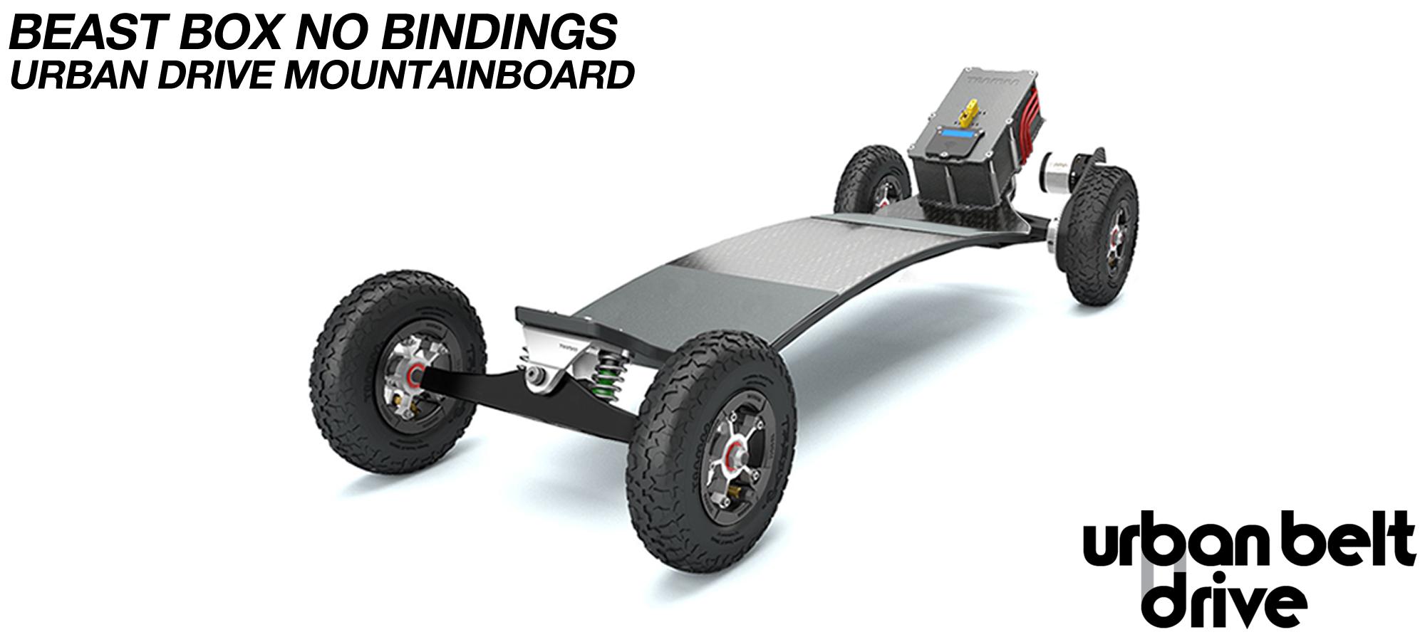URBAN Electric Mountainboard - Urban Motor Mounts on custom TRAMPA deck ATB Trucks custom 8 inch Wheels with BEAST Box Single VESC - NO BINDINGS