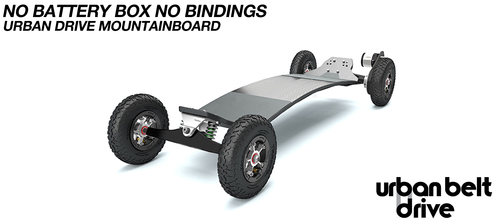 URBAN Electric Mountainboard - Urban Motor Mounts on custom TRAMPA deck ATB Trucks custom 8 inch Wheels NO Battery Box Single VESC - NO BINDINGS