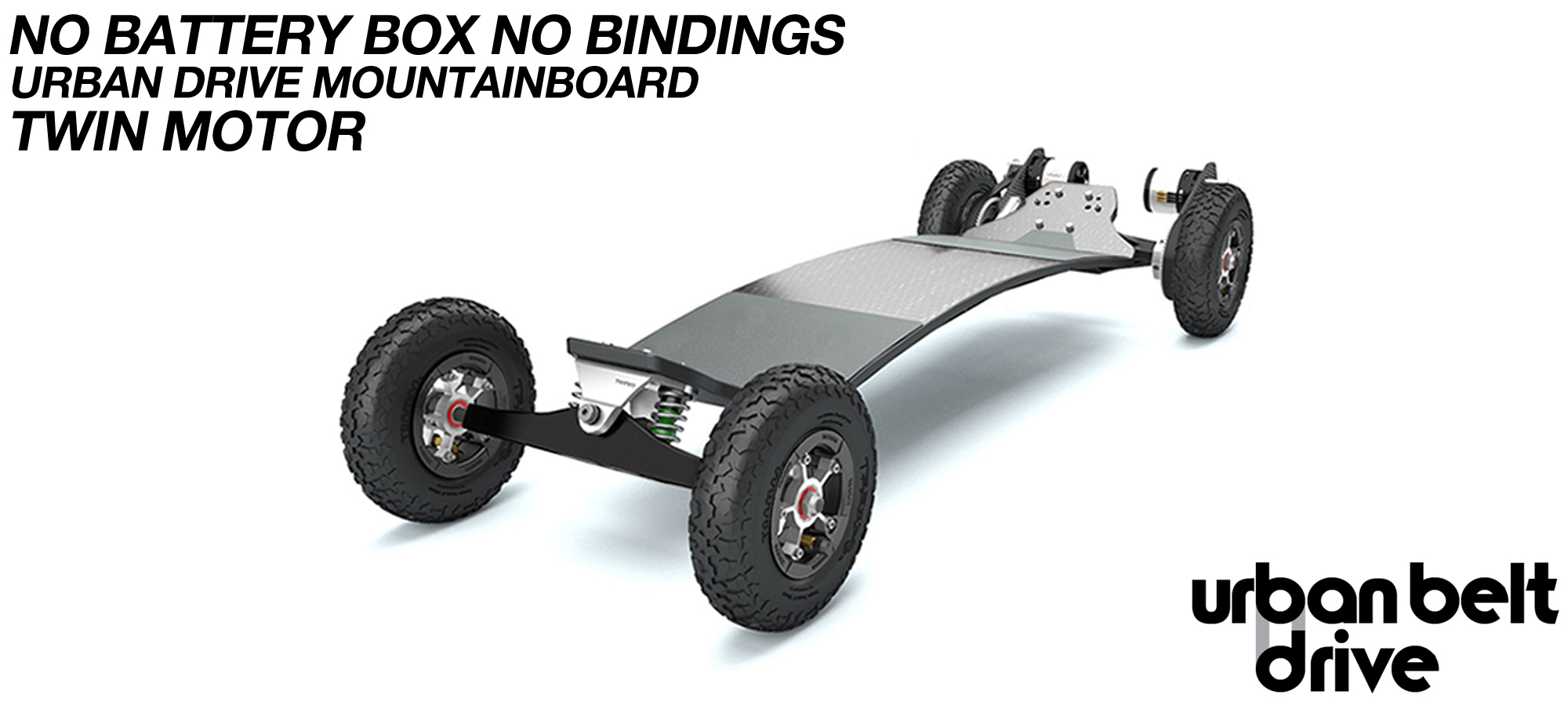 URBAN Electric Mountainboard - Urban Motor Mounts on custom TRAMPA deck ATB Trucks custom 8 inch Wheels NO Battery Box TWIN VESC - NO BINDINGS