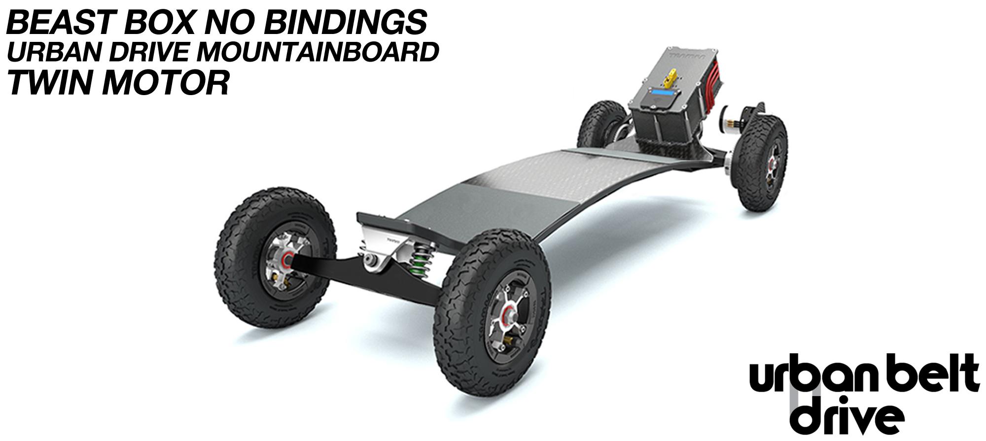 URBAN Electric Mountainboard - Urban Motor Mounts on custom TRAMPA deck ATB Trucks custom 8 inch Wheels with BEAST Box TWIN VESC - NO BINDINGS