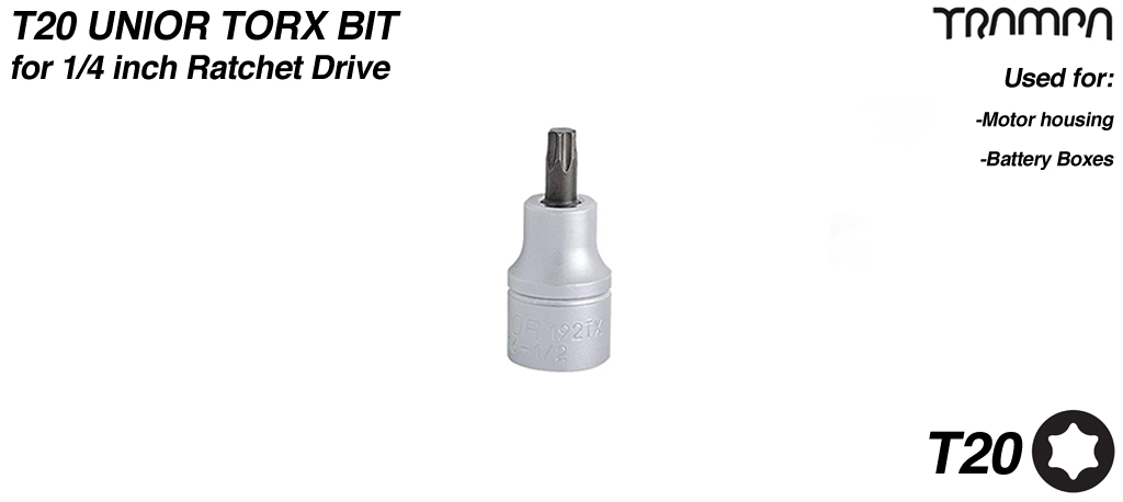 T20 Torx bit for 1/4 inch Ratchet Drive UNIOR