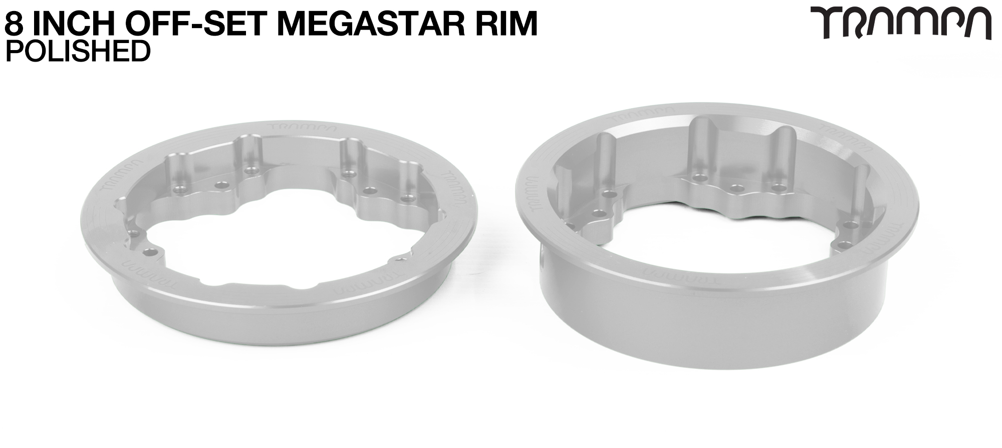 8 Inch MEGASTAR Rim OFF SET SILVER - Pro OFF-SET Superstars will widen your wheel base by 15mm
