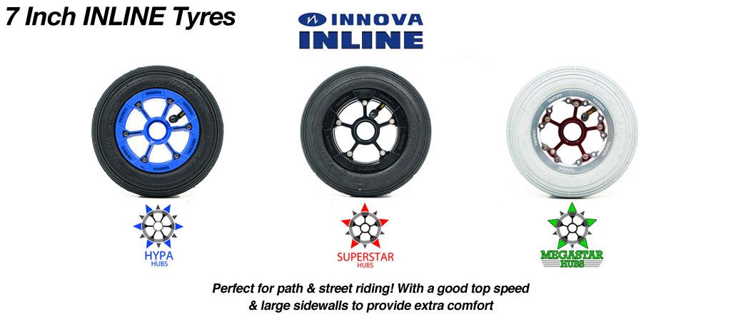 Build your own Custom 7 Inch TRAMPA Wheel!!  HYPA SUPERSTAR or MEGASTAR Wheel