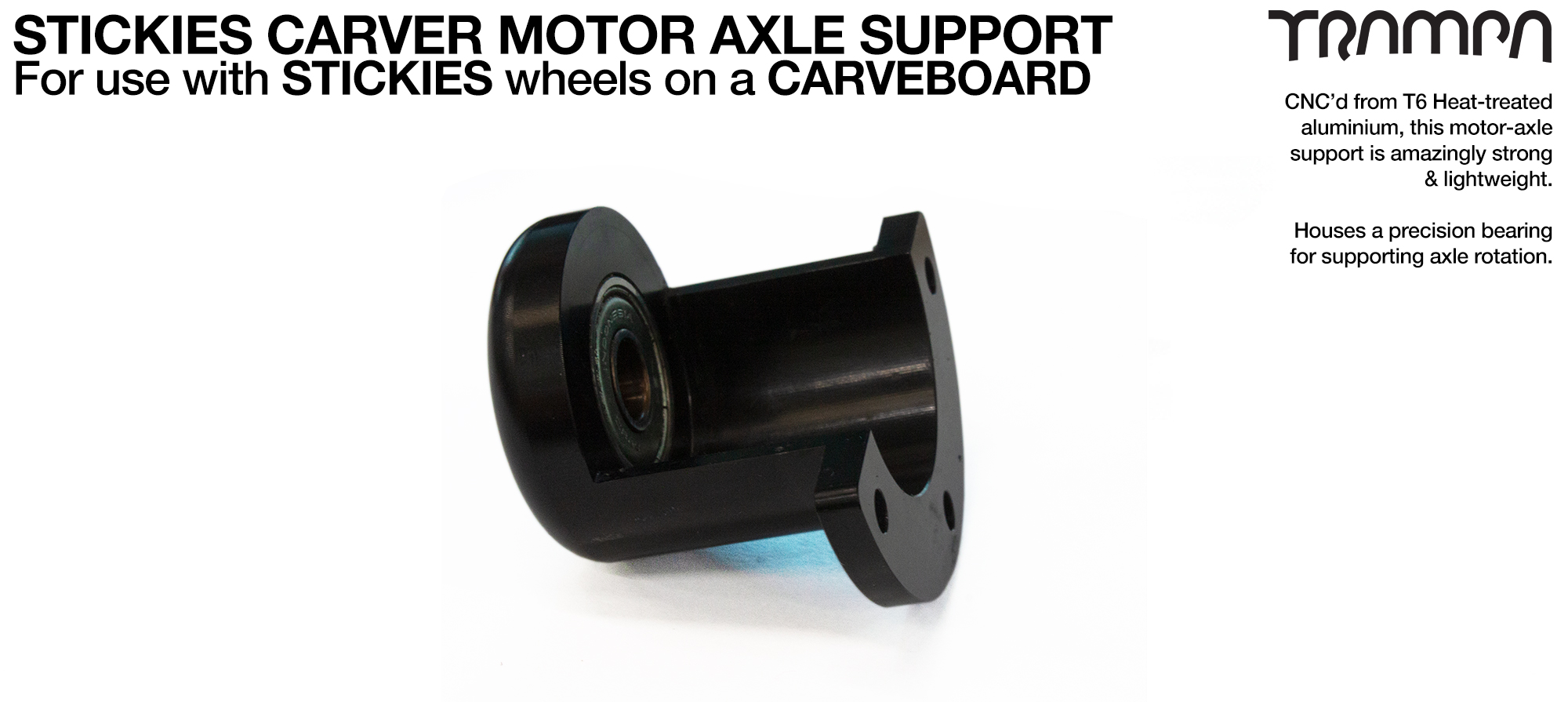 Motor Axle Support for STICKIES & GUMMIES Wheels