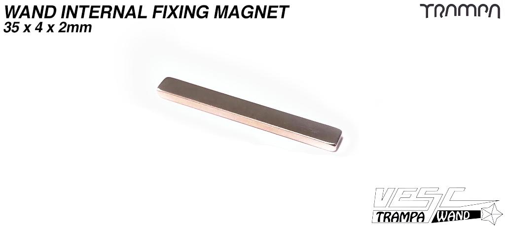 WAND Internal Fixing Magnet 35 x 4 x 2mm - Neodym N45 Vernickelt - halt 2