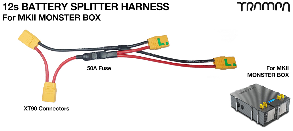 Monster Box 12s Splitter Harness for Twin VESC