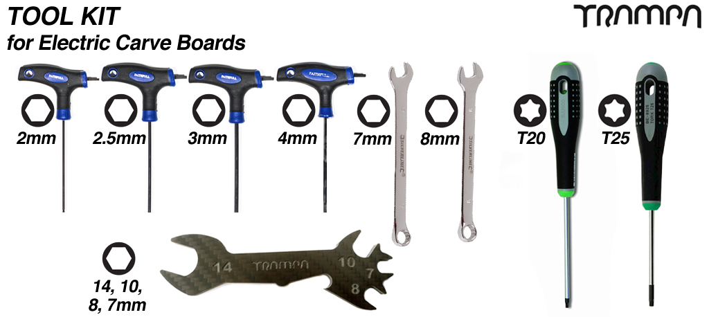 Standard Tool Kit for Electric Carve Boards