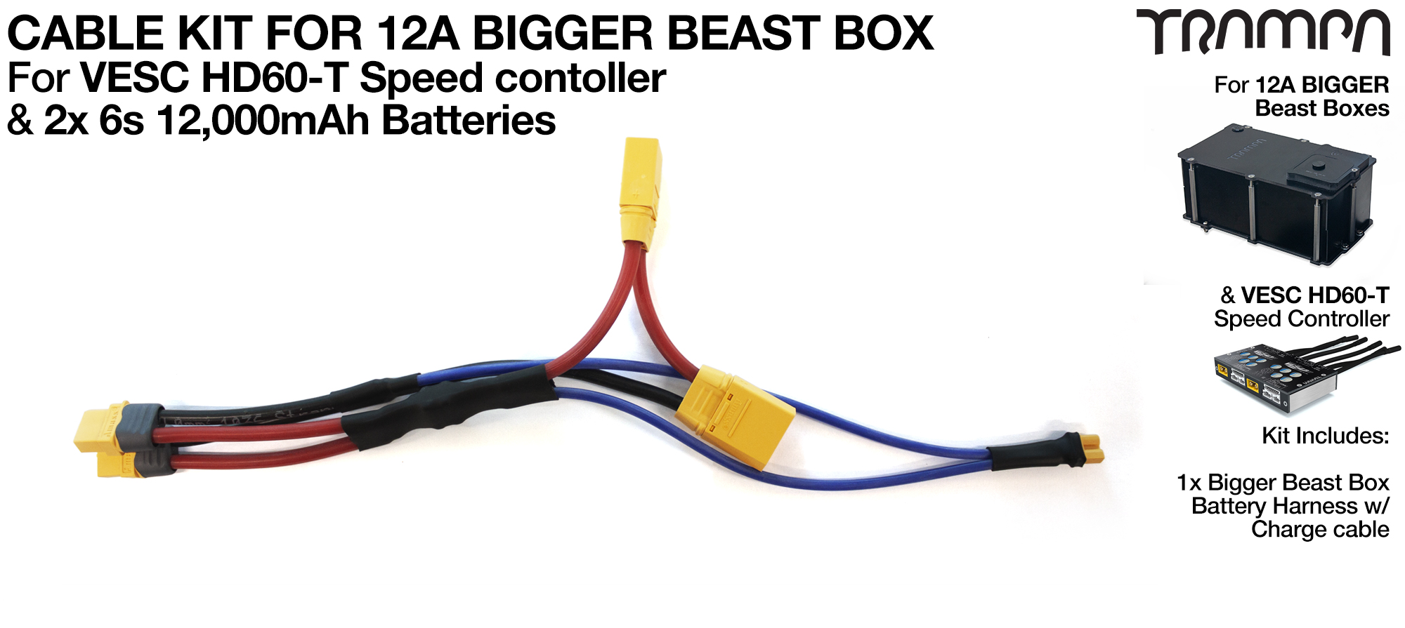 2019 BEAST BOX TWIN VESC Cable Kit