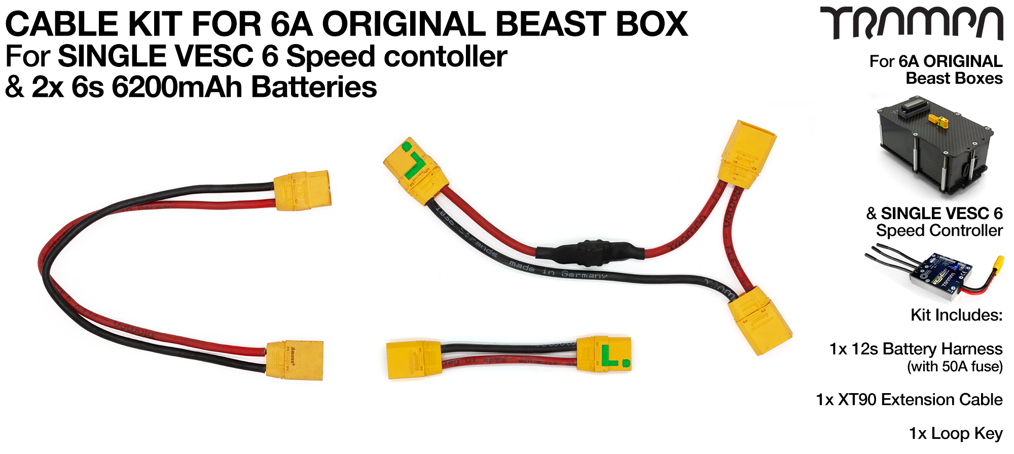 2019 BEAST BOX Single VESC Cable Kit