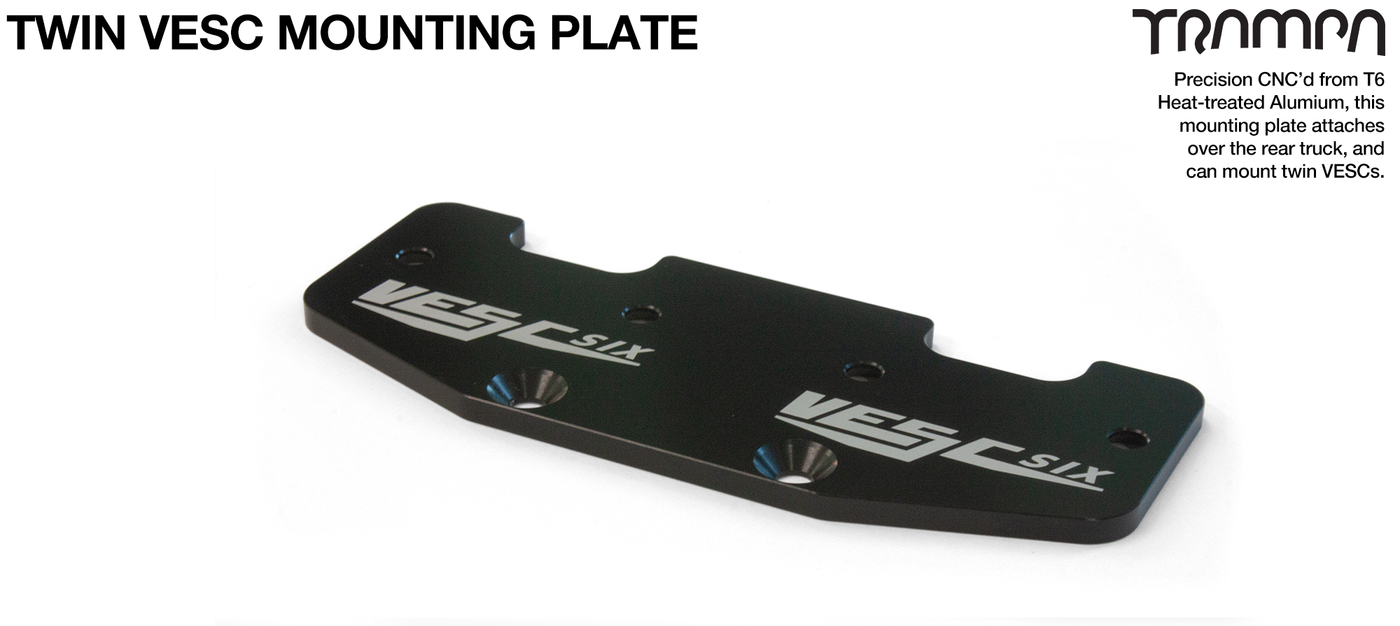 ALUMINIUM mounting Plate for TWIN VESC 6