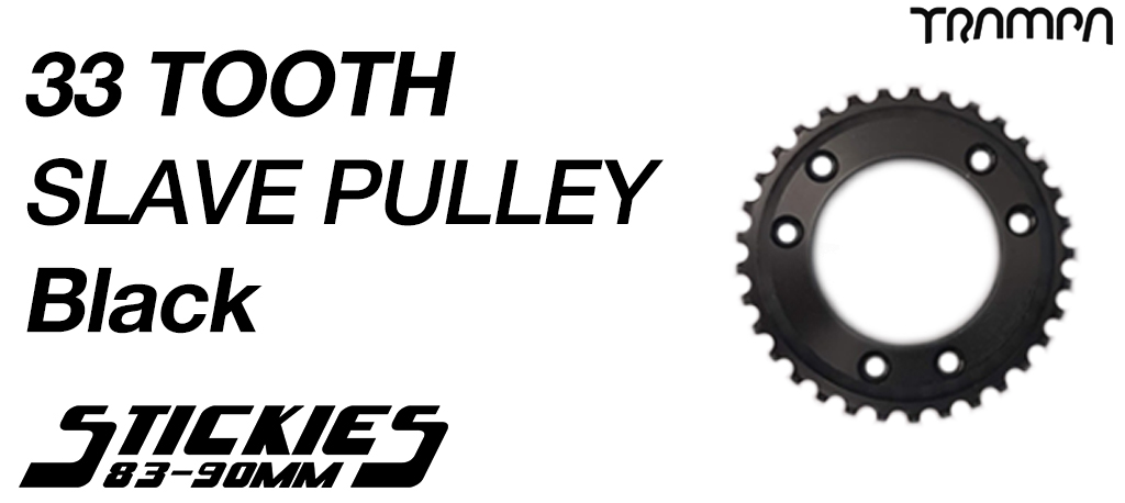 33 Tooth Slave Wheel for 83mm & 90mm Longboard Wheels BLACK - High Speed