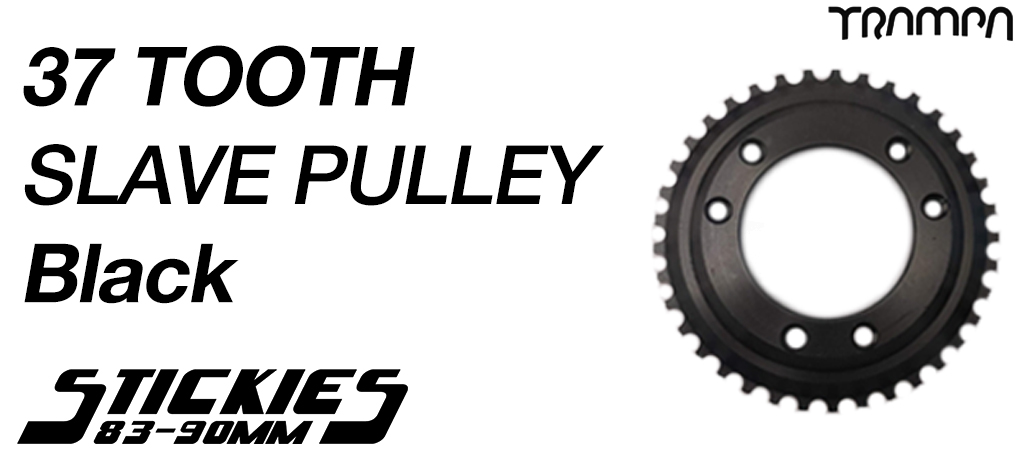 37 Tooth Slave Wheel for 83mm & 90mm Longboard Wheels BLACK - High Torque