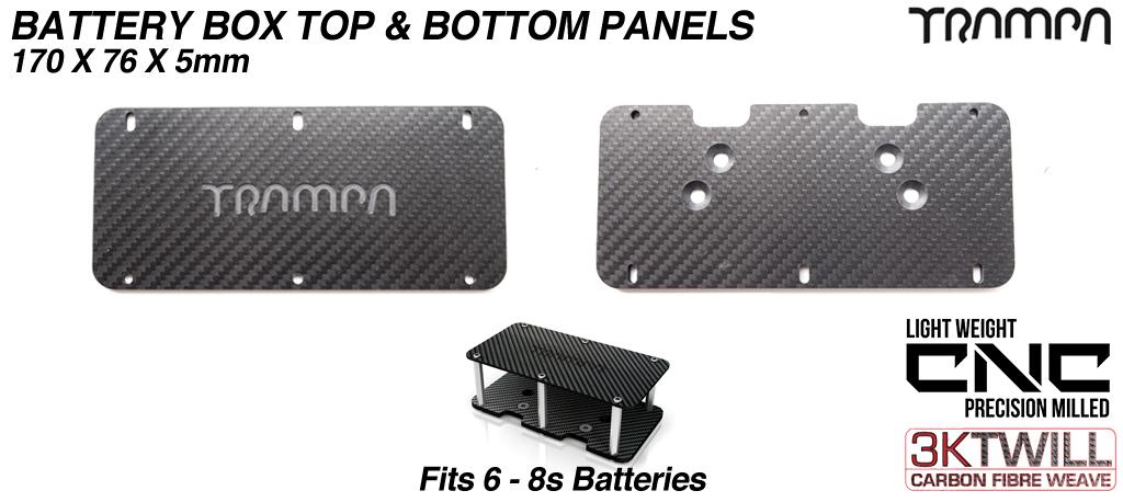6-8s Carbon fibre panels for Battery Box