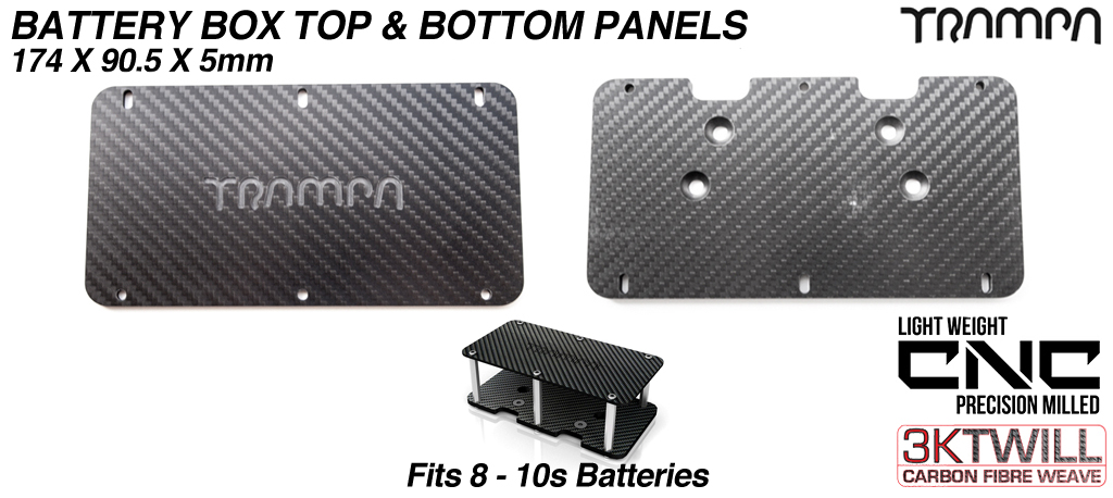 6-8s Carbon fibre panels for Battery Box